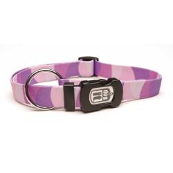 DOGIT Collier strié violet pour chien