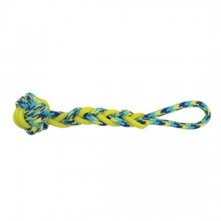 ZEUS Jouet K9 Balle & tresse en corde/TPR jaune