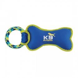 ZEUS Jouet K9 Os nylon sonore avec anneau à tirer pour chien