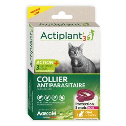 ACTIPLANT'3 Collier antiparasitaire Chat