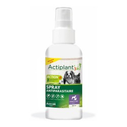 ACTIPLANT'3 Spray antiparasitaire 100 ml pour Chien & Chat