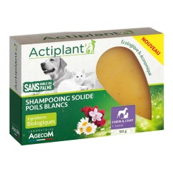 ACTIPLANT Shampooing solide Poils blancs